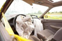 Exploded Takata Airbag