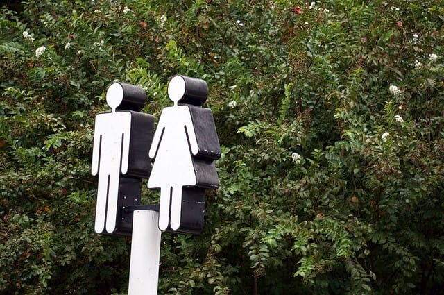 A male and female bathroom sign is not so straightforward in the North Carolina Bathroom Bill Lawsuit