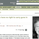Guest editorial arguing No 2nd Amendment Right to Carry