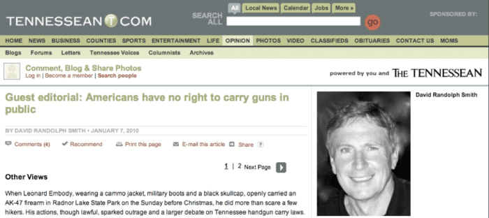 No 2nd Amendment Right to Carry, As We Predicted