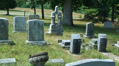 A cemetery with headstones. Dignity in death was a focus of the crematory case.