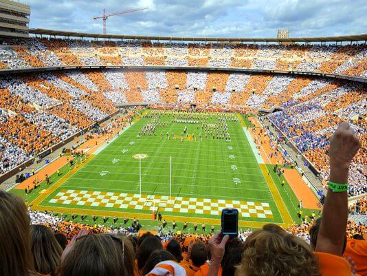 Neyland Stadium at the University of Tennessee. Image from the Tennesseean