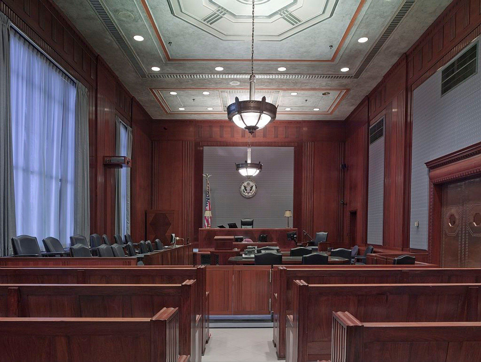 An empty courtroom. Nashville attorney David Randolph Smith will serve on a committee for multi-district litigation against Allergan.